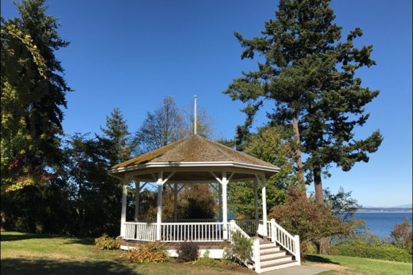 Chetzemoka Park Gazebo, Port Townsend, WA Photo by Pamela Thompson © 2017