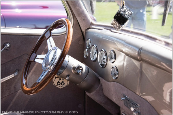 Inside George Wiley's Ford, Rakers Car Show Port Townsend, WA 2015