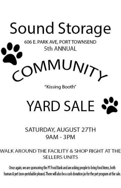 Sound Storage Community Yard Sale, Port Townsend, WA