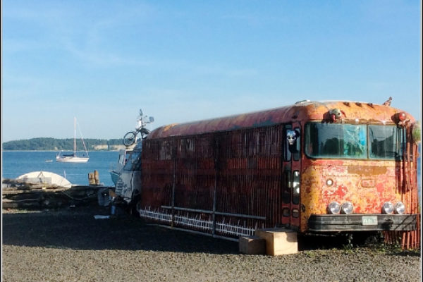 Artsy Bus, Port Townsend, WA | Pamela Thompson Photography © 2016