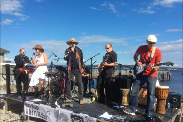 Kevin Mason and the PT All Stars, Concerts at the Dock 2016, Port Townsend, WA - Photo by Pamela Thompson © 2016