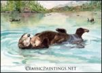 Mama and Baby Sea Otters, Prince William Sound, Alaska, Sandra Smith-Polling